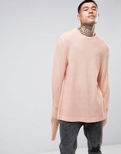 Фактурный оversize-джемпер со свободными рукавами ASOS - Розовый