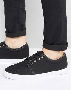 Черные парусиновые кеды на шнуровке ASOS - Черный