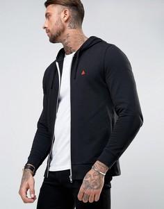 ASOS Zip Up Hoodie In Black With Logo - Черный