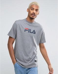 Черная футболка с большим логотипом Fila - Зеленый
