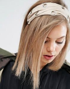 Повязка на голову с люверсами ASOS - Кремовый