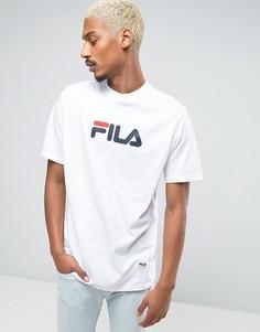 Белая футболка с логотипом Fila - Белый