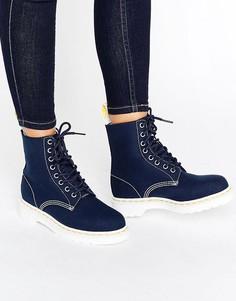 Парусиновые ботинки Dr Martens - Темно-синий