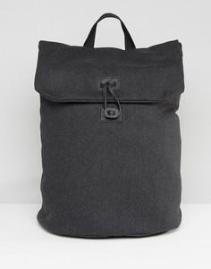 Темно-серый рюкзак из мельтона ASOS - Серый