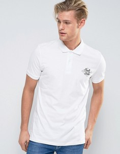 Поло с логотипом на груди Jack & Jones - Белый