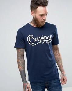 Футболка с логотипом Jack & Jones Originals - Темно-синий