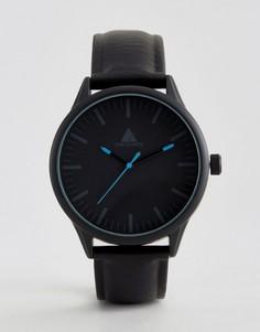 Черные часы с синей отделкой ASOS - Черный