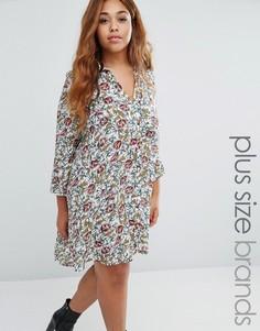 Платье-рубашка со складками сзади Koko Plus - Кремовый