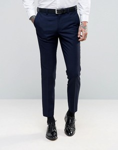 Суперузкие брюки под смокинг Burton Menswear - Темно-синий