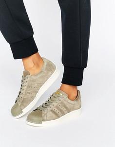 Бежевые кроссовки в стиле 80-х adidas Originals Superstar - Кремовый
