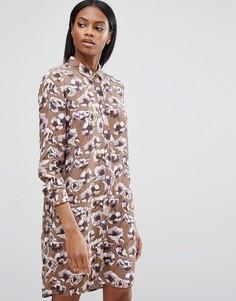 Платье-рубашка с принтом маков Y.A.S - Мульти