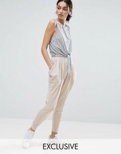 Трикотажные брюки Nocozo - Бежевый