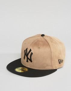 Кепка без регулируемого ремешка сзади New Era 59Fifty NY Yankees - Коричневый