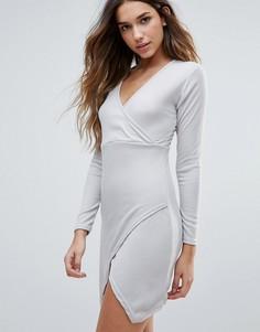 Платье с запахом спереди Daisy Street - Серый