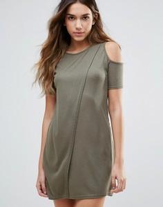 Платье с вырезами на плечах Daisy Street - Зеленый