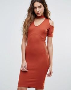 Платье мини с вырезами на плечах Daisy Street - Красный