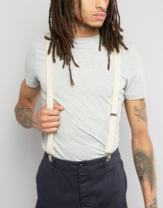 Бежевые подтяжки с кожаной отделкой в винтажном стиле ASOS - Бежевый