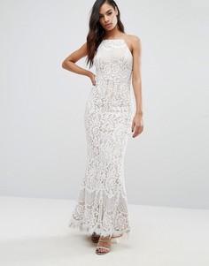Кружевное платье макси Jarlo Ariel - Кремовый