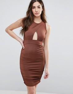 Облегающее платье Daisy Street - Коричневый
