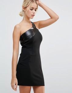 Облегающее платье на одно плечо Daisy Street - Черный