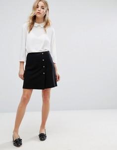 Мини-юбка в стиле милитари New Look - Черный