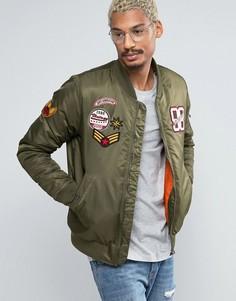 Куртка-пилот с нашивками Juice - Зеленый