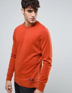 Оранжевый свитшот с круглым вырезом и логотипом спереди Abercrombie & Fitch - Оранжевый