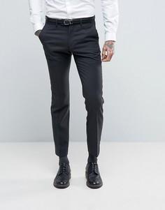 Темно-синие узкие брюки в крапинку Ben Sherman - Серый