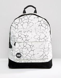 Белый рюкзак с принтом в виде трещин Mi-Pac - Белый