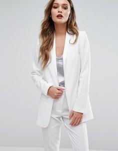 Атласный блейзер New Look - Белый