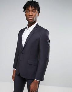 Темно-синий узкий костюм в крапинку Ben Sherman - Серый