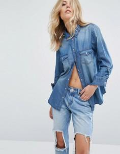 Джинсовая рубашка JDY - Синий