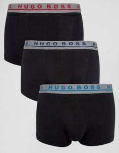 Набор из 3 черных боксеров-брифов BOSS By Hugo Boss - Черный