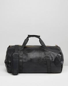 Черная сумка с отделкой под кожу питона Mi-Pac - Черный