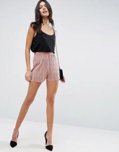 Плиссированные шорты ASOS - Розовый