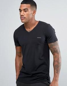 Черная футболка из эластичного хлопка с логотипом Diesel - Черный