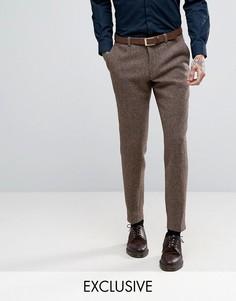 Суперузкие брюки из твида Харрис Heart & Dagger - Коричневый