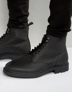Кожаные ботинки на шнуровке Religion Scotchgrain - Черный
