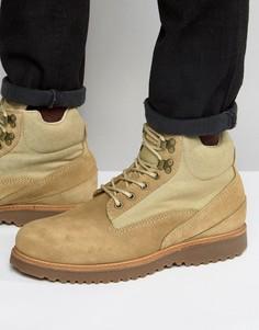 Замшевые ботинки на шнуровке Religion - Бежевый