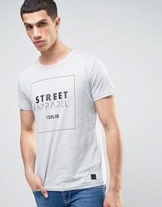 Длинная футболка с логотипом Solid - Серый