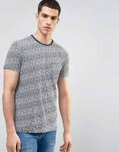 Фактурная футболка в полоску с карманом Solid - Белый