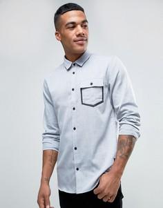 Оксфордская рубашка классического кроя с карманом Solid - Серый