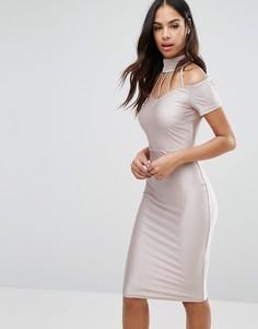 Платье миди на бретельках NaaNaa - Розовый