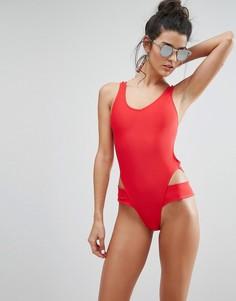 Слитный купальник Boohoo - Красный
