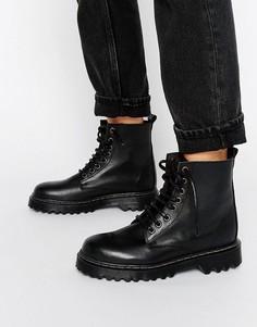 Ботинки на шнуровке и массивной подошве Park Lane - Черный