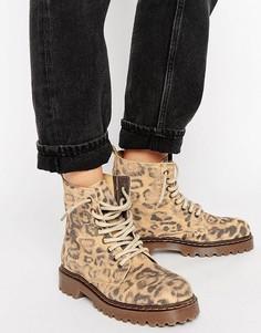 Ботинки на шнуровке и массивной подошве Park Lane - Мульти