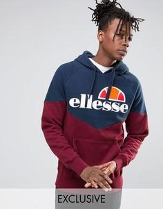 Худи с шевронным узором и крупным логотипом Ellesse - Темно-синий