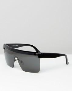 Солнцезащитные очки-маска Karl Lagerfeld - Черный