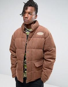 Вельветовая дутая куртка Billionaire Boys Club - Коричневый