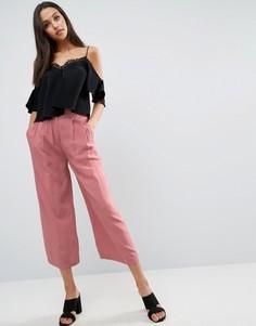 Тканая юбка-брюки со складками спереди ASOS - Мульти